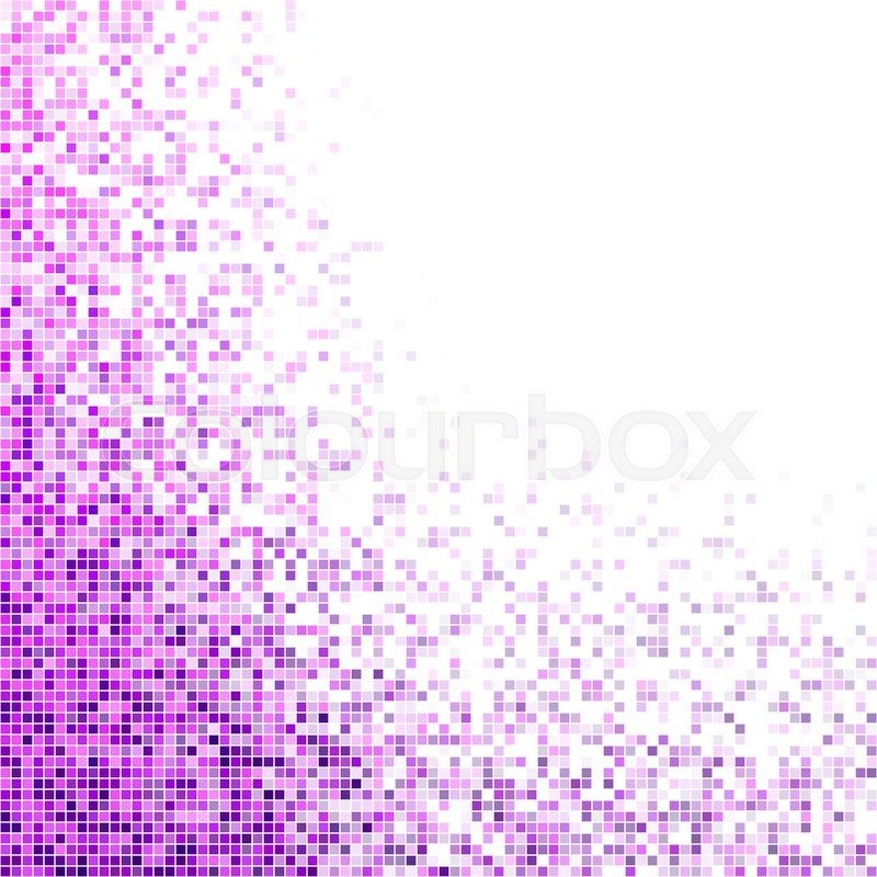 Purple And Magenta Square Mosaic Vector Background Design