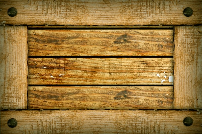 Old wooden background frame Stock Photo Colourbox