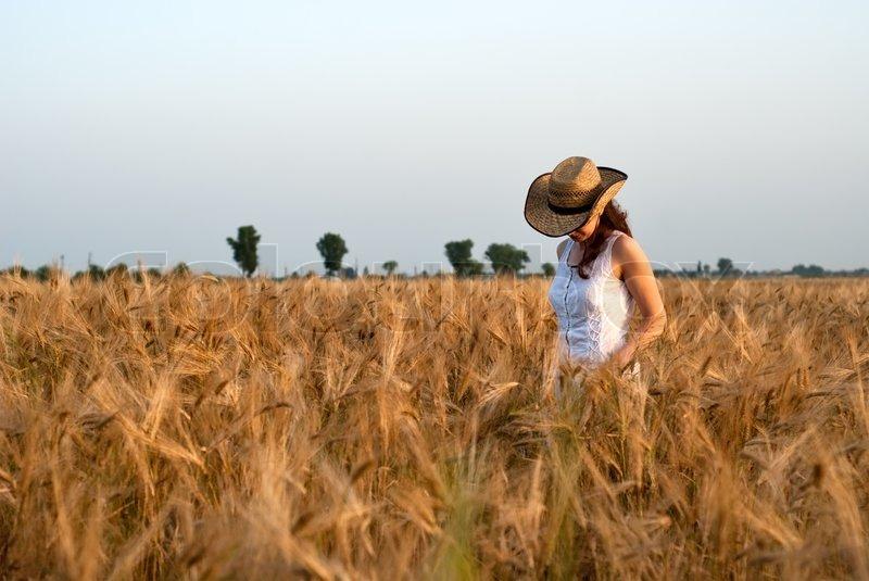 Girl Masterbating In A Field - Photo Erotic-6186