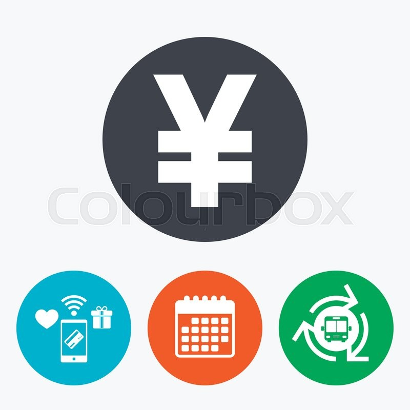 Yen Sign Icon Jpy Currency Symbol Money Label Mobile Payments