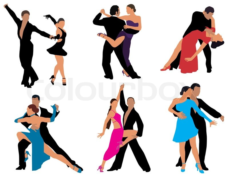 Dancing couples different styles of dance color vector for 1234 get on the dance floor video download
