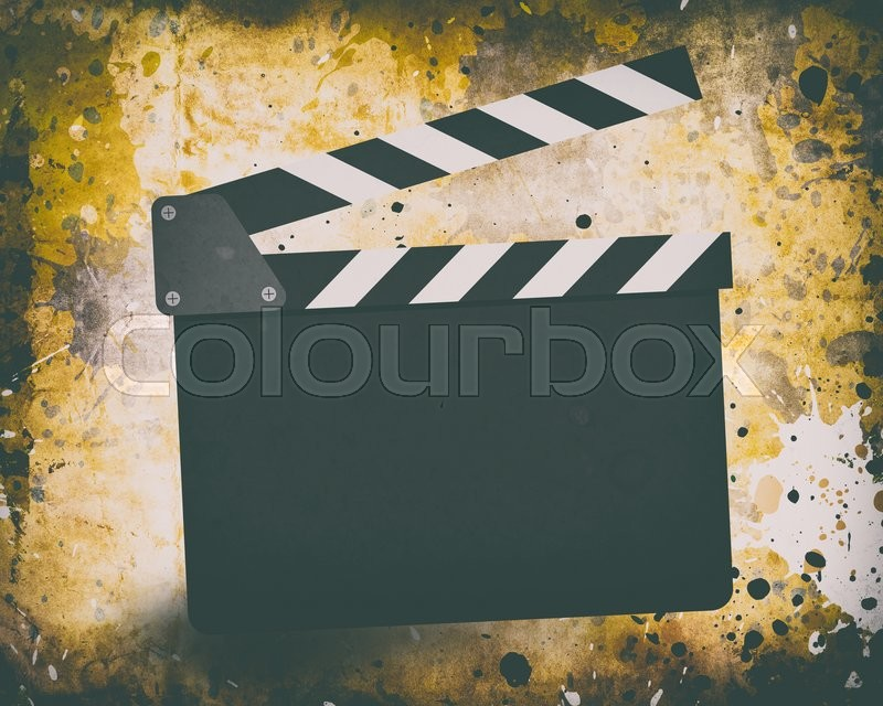 Stock foto af 'Movie clapperboard on a grunge background with scratches