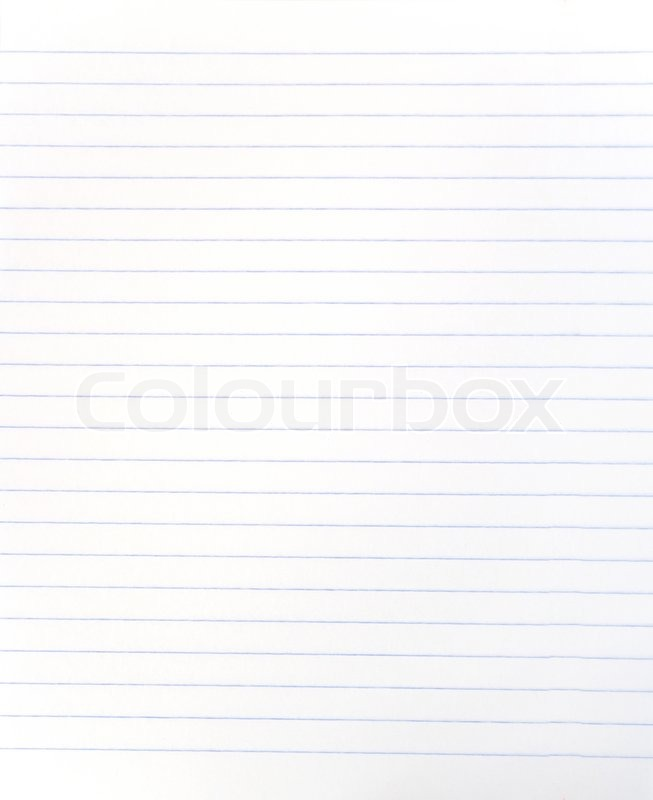 Blank lined notebook sheet | Stock Photo | Colourbox