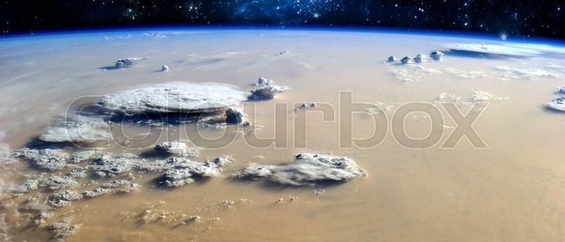 View of the Earth in space. Elements of this image furnished by NASA, stock photo
