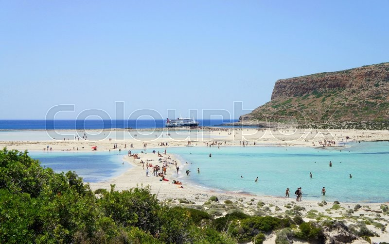Stock image of 'Beautiful beaches of Gramvousa, Greece'