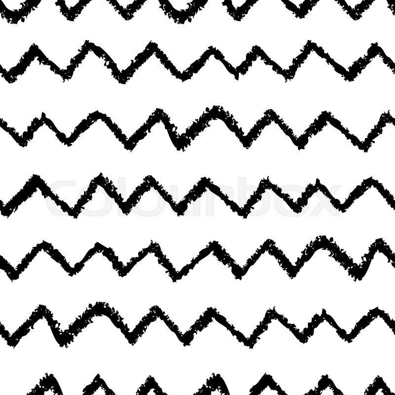 Seamless Chevron Pattern Hand Painted With Oil Pastel Crayons Delectable Cheveron Pattern