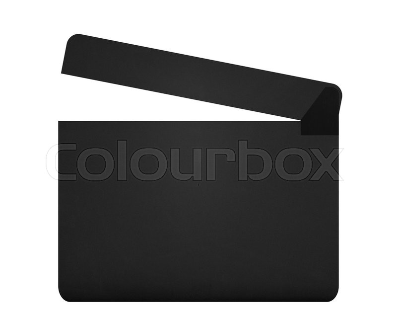 Stock image of 'Movie clapperboard isolated on white background'