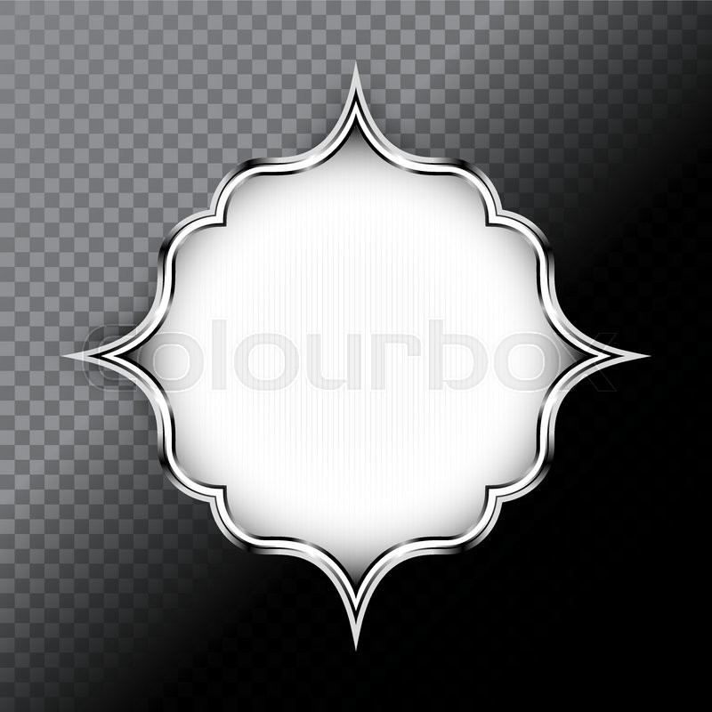 abstract vector black and white silver shape design element on transparent background for banner