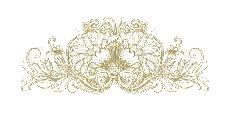Vector gold blooming flower background golden flowers on white stock vector of vector gold blooming flower background golden flowers on white background mightylinksfo Images