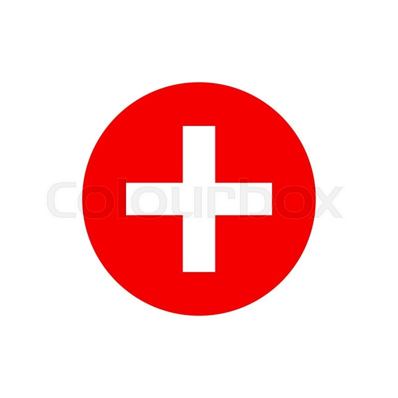 Vector Red Cross Icon Red Cross Aid Red Cross Day Design Concept Red Cross Flag Red Cross