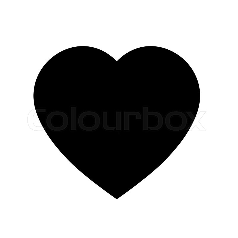 simple heart icon black and white heart icon shape vector heart rh colourbox com heart icon vector image heart icon vector transparent
