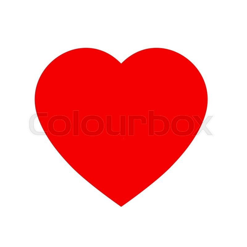 simple heart icon red and white heart icon shape isolated on white rh colourbox com vector heart shape illustrator vector heart shaped confetti