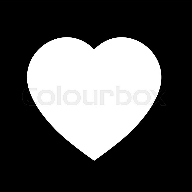 Simple Heart Icon Black And White Heart Icon Shape Vector Heart