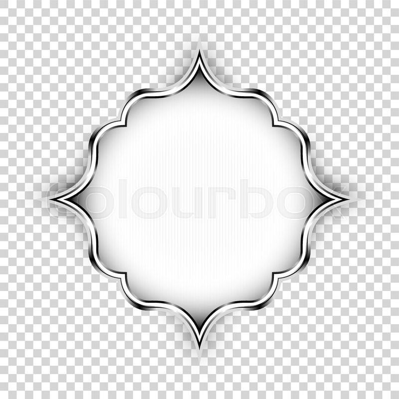 vector of 'Vector silver shape, decorative art design element. Islamic ...