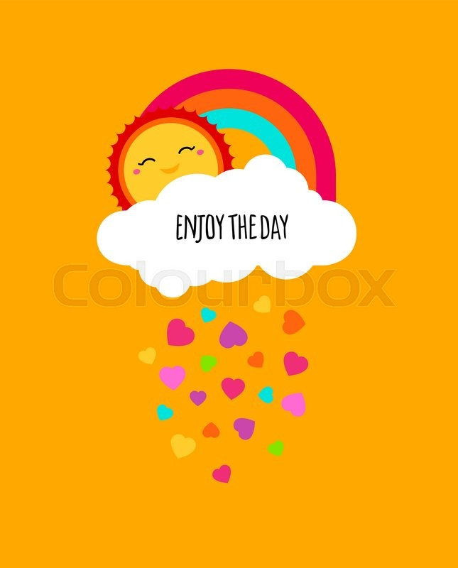 Stock Vector Of U0027Vector Enjoy Every Day Quote Poster. Positive Motivation  Concept. Motivational