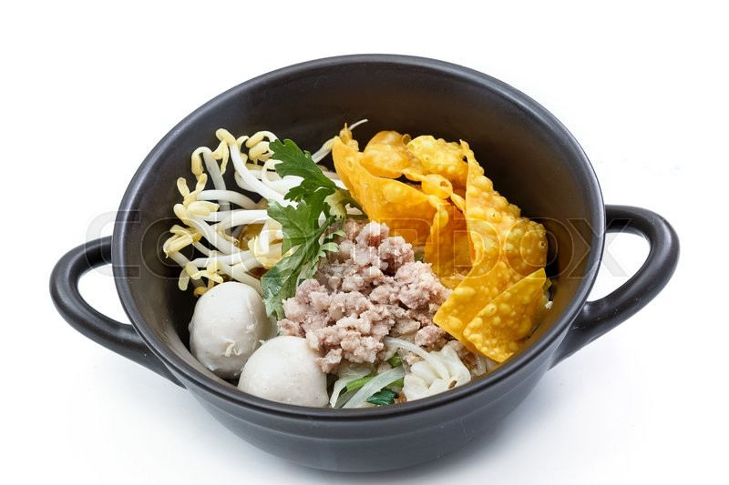 Stock image of 'Noodles with pork , Asian food style'