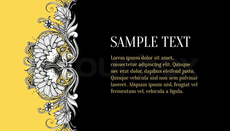 vector floral horizontal banner design stylized flowers