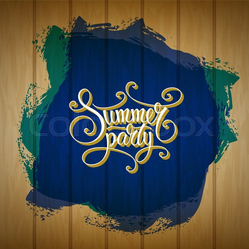 Stock Vector Of Vintage Calligraphic Summer Party Invitation Abstract Beach Poster Design
