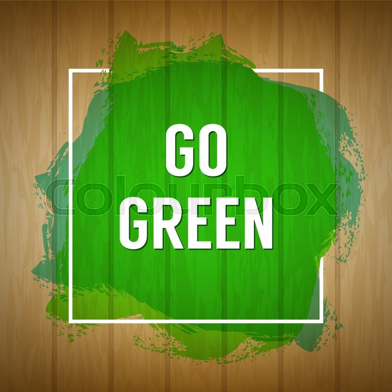 Go Green Concept Nature Background Stock Vector Colourbox