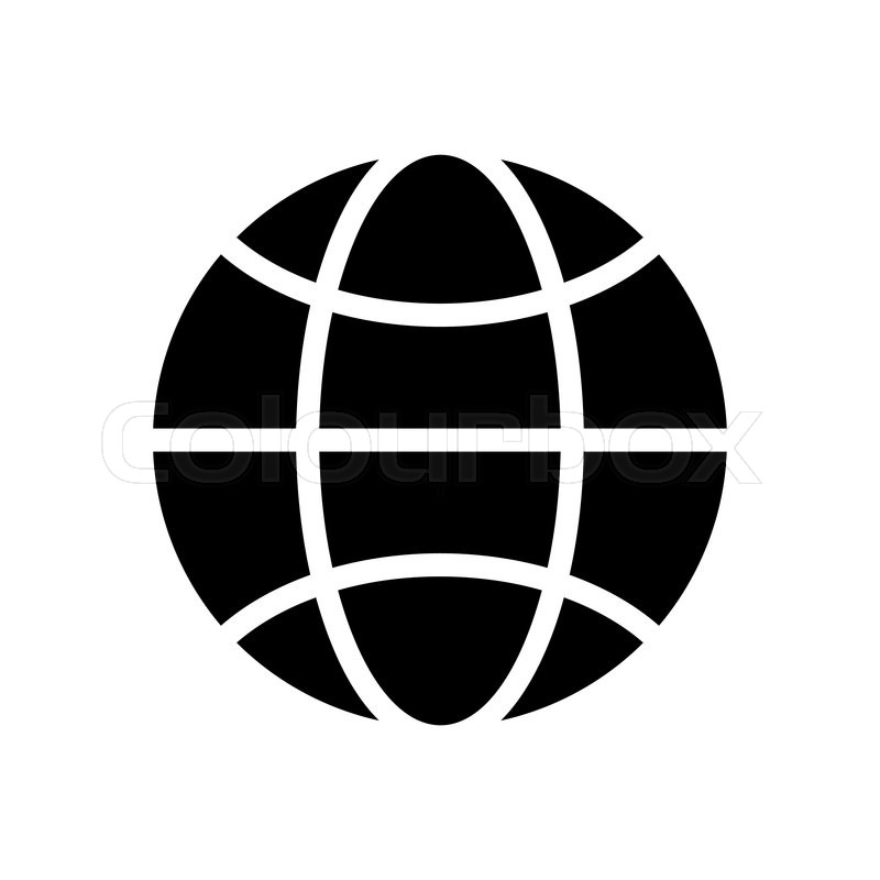 Vector black and white globe icon      | Stock vector