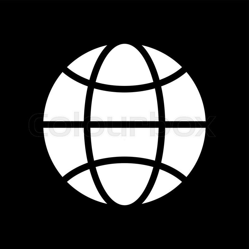 Stock Vector Of U0027Vector Black And White Globe Icon. Global Design Concept.  Globe