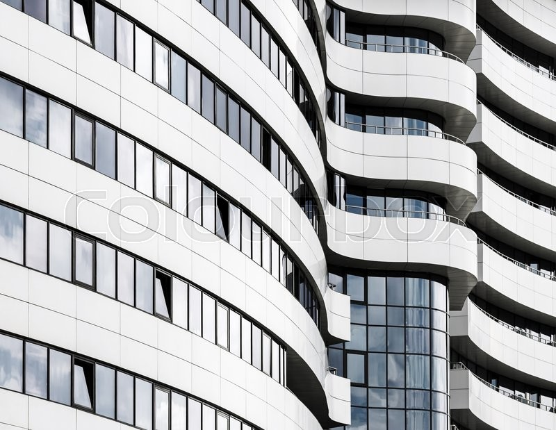 Abstract fragment of modern architecture. Common modern business industrial architecture. Modern office building, stock photo