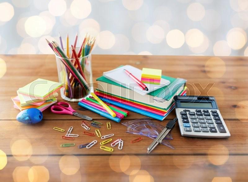 Education, school supplies, art,     | Stock image | Colourbox