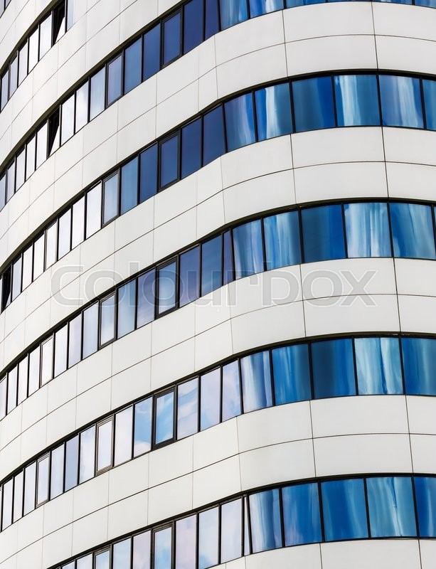 Stock image of 'Close-up of modern building. Modern office of steel and glass. Modern business industrial architecture. Close-up fragment of modern skyscraper.'