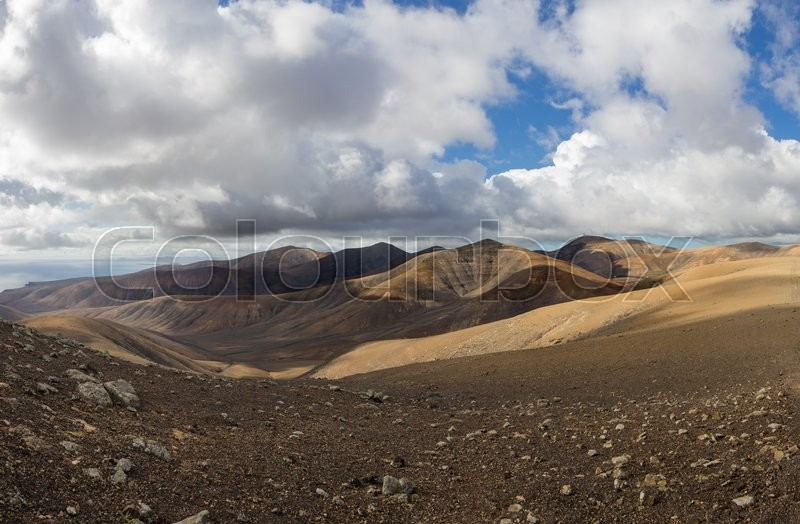 Stock image of 'Volcanic landscape of the island of Lanzarote, Canary Islands, Spain'