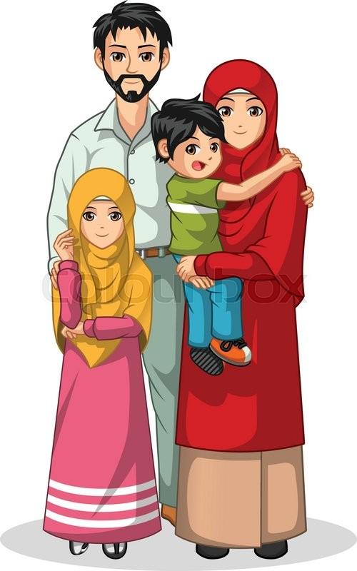 muslim family cartoon character vector illustration wifi clip art logo wifi clipart images
