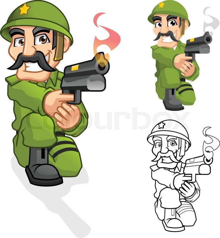 High Quality Captain Army Cartoon Stock Vector Colourbox
