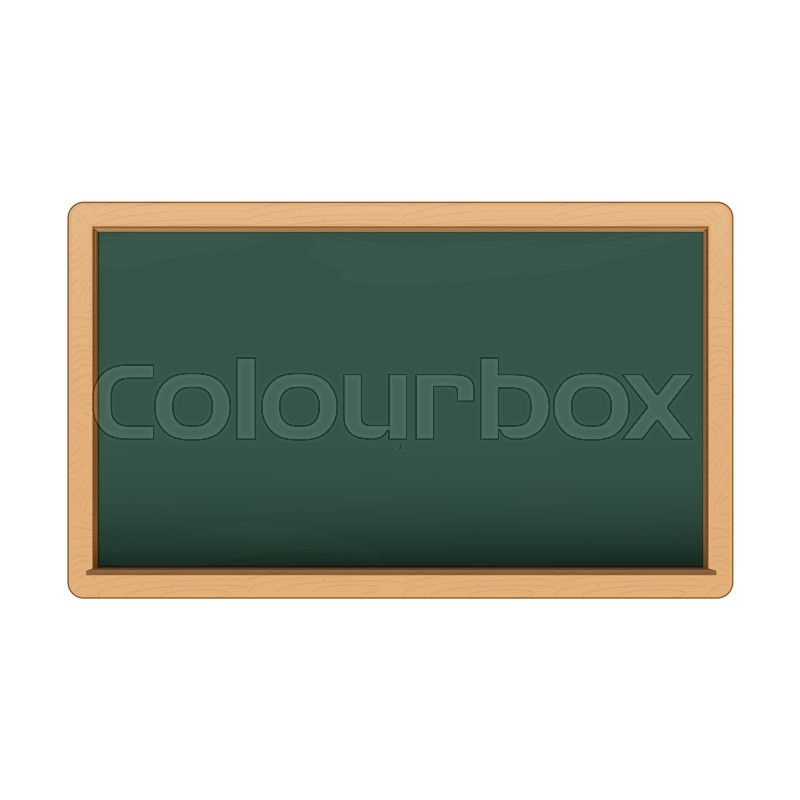 Stock image of 'Green chalkboard on white background. '