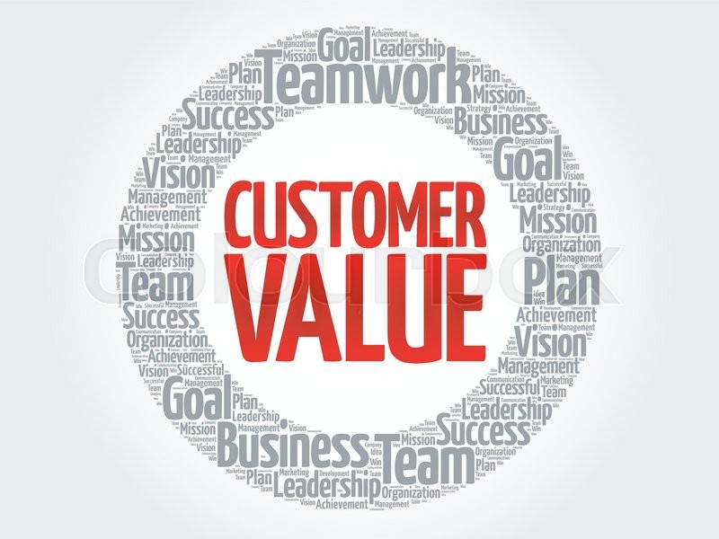 Customer Value circle word cloud, business concept | Stock ...