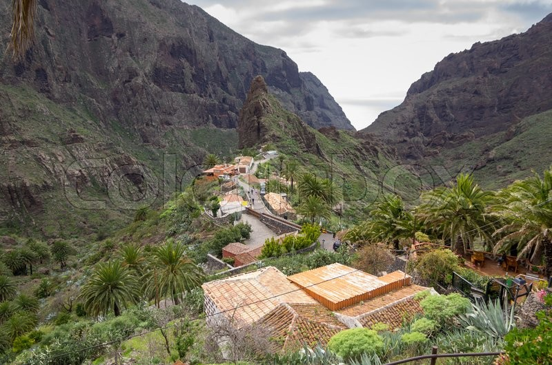 Stock image of 'Top view on Masca village on Tenerife, Canary Islands, Spain'