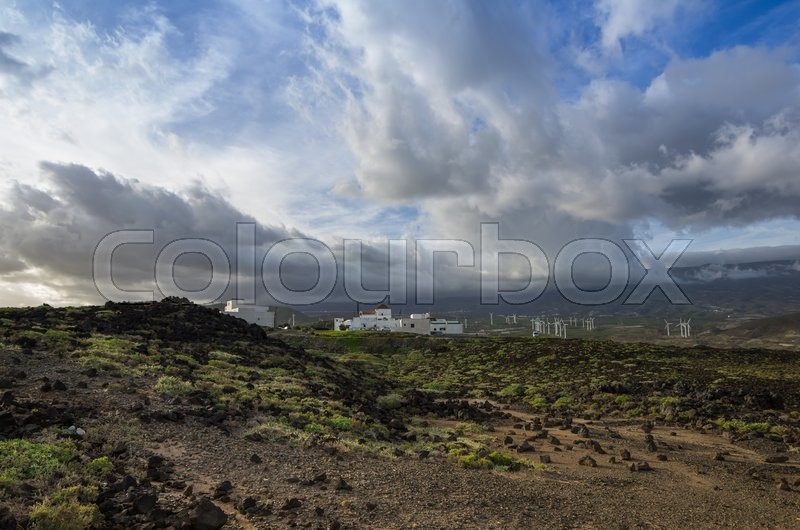 Stock image of 'Punta de Abona - little town on the coast of Tenerife, Canary island'