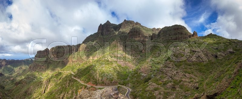 Stock image of 'Mountain landscape on Tenerife, Canary Islands, Spain'
