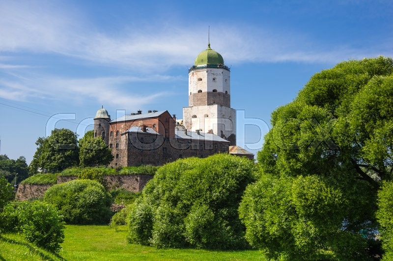 Stock image of 'Old Swedish castle in Vyborg, Leningrad region, Russia'