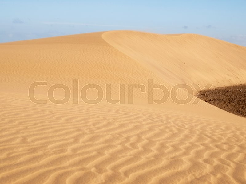 Stock image of 'Dunes of Maspalomas - protected landscape area in Canary Island'