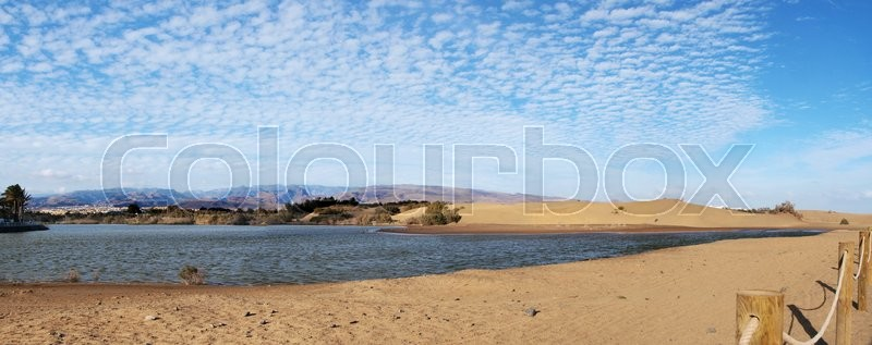 Stock image of ' Natural Reserve of the Dunes of Maspalomas, Canary Islands'