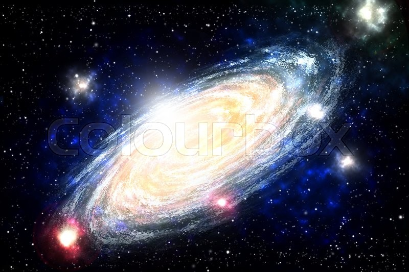 Stock image of 'Spiral Galaxy in deep space, Generate bitmap Picture'