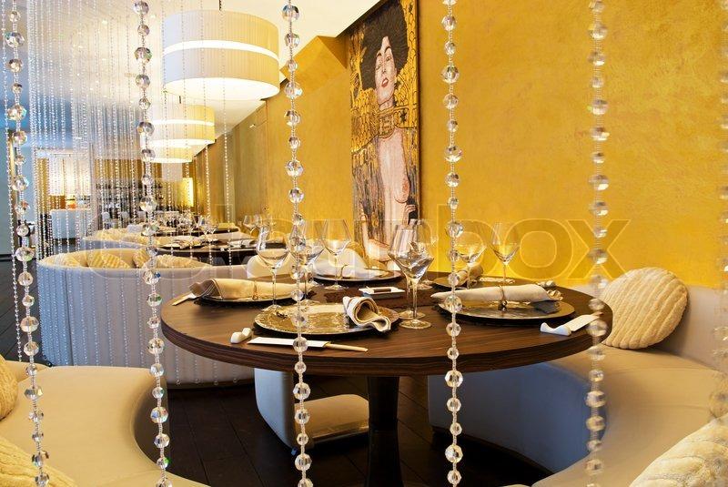 Interior of luxury restaurant stock photo colourbox