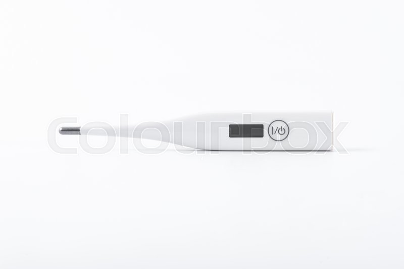 Stock image of 'Clinical thermometer on white background'
