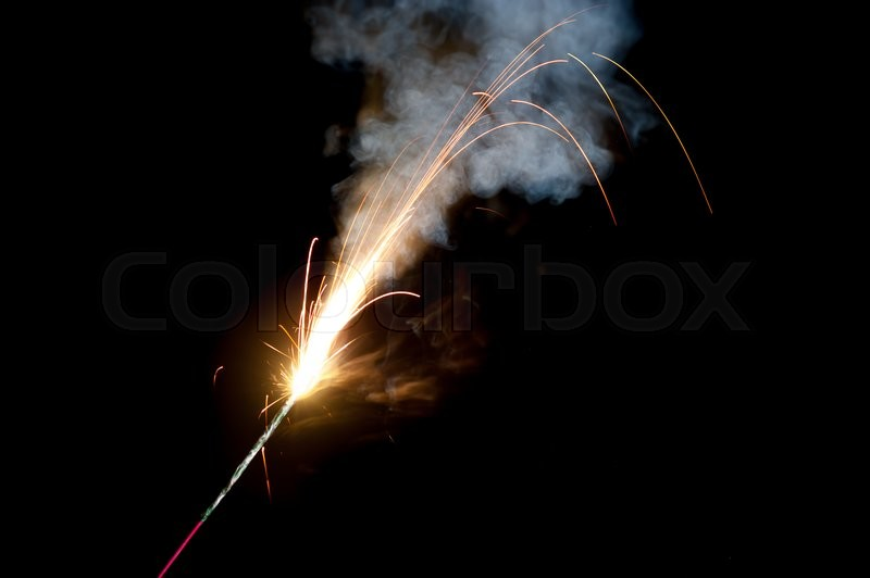 Stock image of 'Christmas and newyear party sparkler on black'