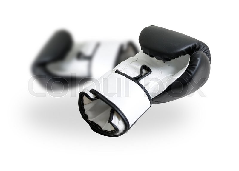 Stock image of 'Boxing gloves on white'