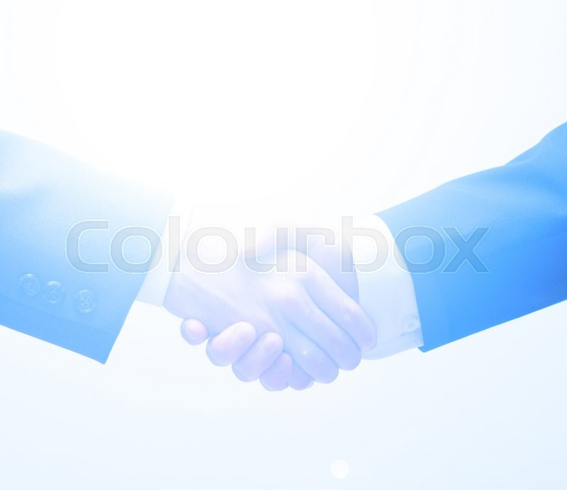 Stock image of 'Two business men shaking hands'