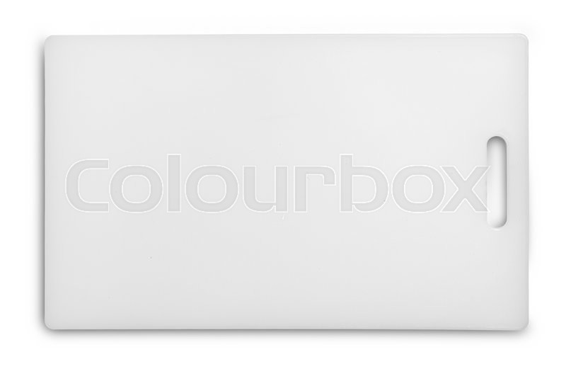 Stock image of 'Plastic cutting board isolated on white'