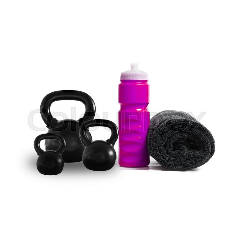 Stock image of 'Fitness items on white'