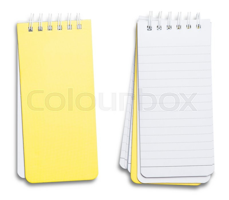 Stock image of 'Collection of various paper page notebook. textured isolated on the white background'