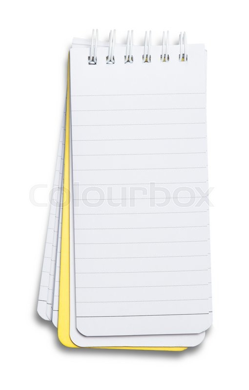 Stock image of 'Notebook. textured isolated on the white background'
