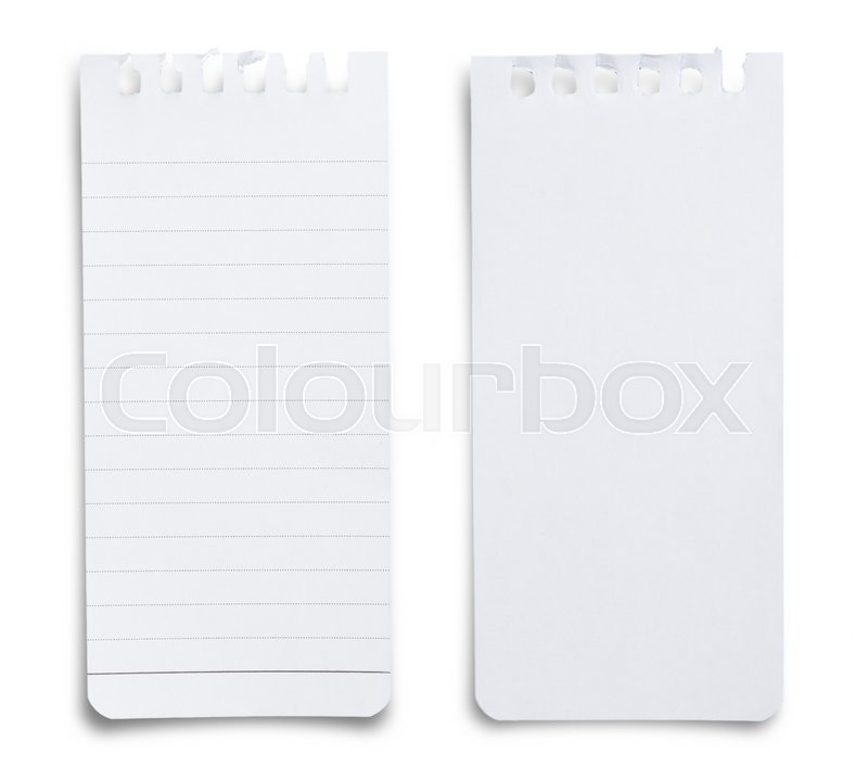 Stock image of 'Note paper on white background'
